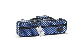 (Blue Polka Dot) - Beaumont BFCA-BP Blue Polka Dot Flute Box Case