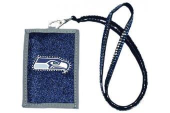 (Seattle Seahawks) - NFL Beaded Lanyard with Nylon Wallet