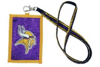 (Minnesota Vikings) - NFL Beaded Lanyard with Nylon Wallet