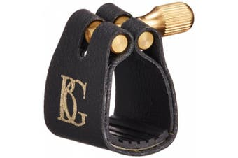 BG L12BG Standard Alto Saxophone Ligature with Rubber Support