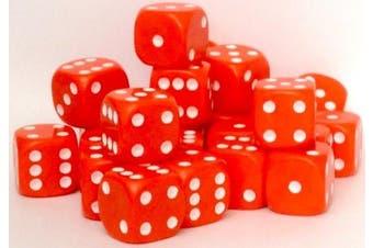(Orange) - 24 x 16mm opaque spot dice (Orange)