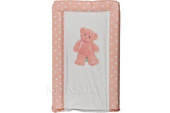 (Pink) - Baby Changing Mat Padded Luxurious Comfortable My First Teddy (Pink)