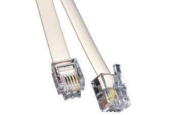 kenable ADSL Broadband Modem Cable RJ11 to RJ11 WHITE 1m Short Lead