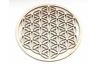 Berk EN-072 Meditation Accessory, Wooden Flower of Life Design 14.4 cm