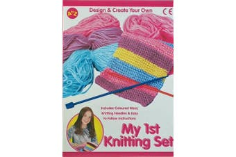 My First Knitting Set - Girls Creative Junior Craft Kit by A TO Z