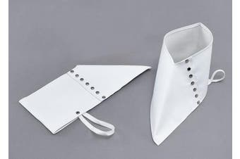 Spats, White with Silver Buttons, Halloween Mens Gangster shoe covers, fancy dress