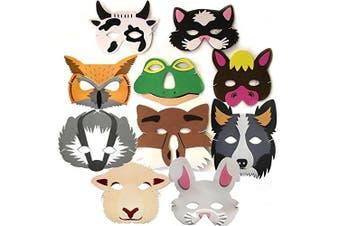 10 Woodland & Farm Animal Foam Childrens Face Masks