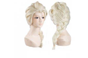 Disney Movies Princess Frozen Snow Queen Elsa Cosplay Wig Elsa Wig w/ a Free Cap