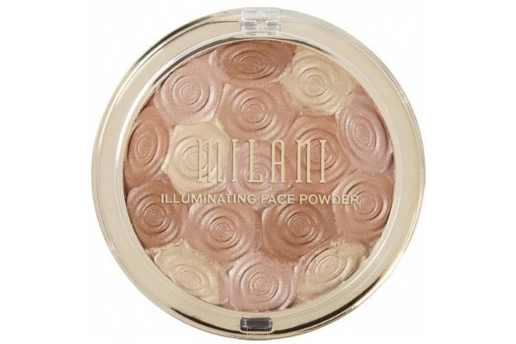 (Hermosa Rose) - Milani Illuminating Face Powder - Hermosa Rose (10ml) Cruelty-Free Highlighter, Blush & Bronzer in One Compact to Shape, Contour & Highlight