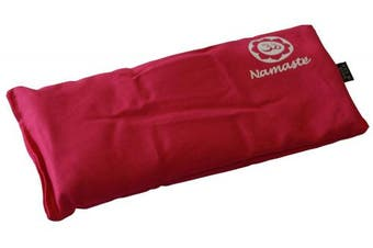 (Pink) - Blissful Being Namaste Yoga Eye Pillow with Lavender - Lavender Eye Pillow Perfect for Savasana, Meditation, Relaxation, Yoga and Stress Relief - Soft, Organic Cotton (Pink)