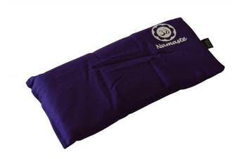 (Purple Stickerless) - Blissful Being Namaste Yoga Eye Pillow with Lavender - Lavender Eye Pillow perfect for Savasana, Meditation, Relaxation, Yoga and Stress Relief - Soft, Organic Cotton (Purple)