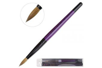 (Size 6) - Profession Purple Wood Kolinsky Acrylic Nail Brush (Size: 6, 8, 10, 12, 14, 16, 18, 20, 22) PANA Brand High End Quality 100% Pure Kolinsky Hair (Size 6)