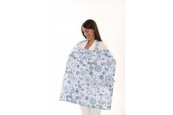 (Sky Blue) - Zenoff Products Nursing Cover, Starry, Sky Blue
