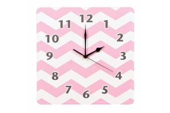 (Pink Sky) - Trend Lab Chevron Wall Clock, Pink Sky