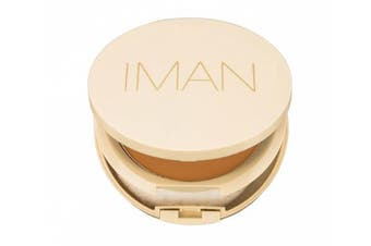 (Light/Medium) - Iman Cosmetics Perfect Response Oil-Blotting Pressed Powder, Light/Medium