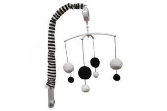 Dots/Pin Stripes Musical Mobile Colour: Black/White