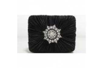 Style & Co. Handbag, Molly Satin Evening Bag, Black