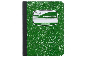(Green) - Mead Composition Book, Notebook, Wide Ruled, 25cm x 19cm , Green (72249)