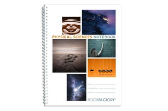 "(Standard 22cm  x 28cm  . 75 pg, Physical Sciences) - BookFactory Physical Sciences Lab Notebook/Laboratory Notebook - 75 Pages - Scientific Grid Pages, Translucent Cover, Wire-O Binding - Page Size: 8 ½"" x 11"" (LAB-075-7GW (Physical Sciences))"