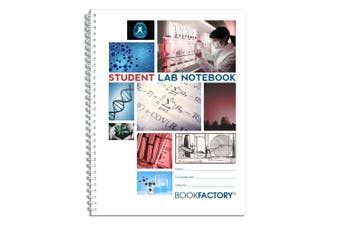 "(Standard 22cm  x 28cm  100 pg, Student) - BookFactory Student Lab Notebook/Laboratory Notebook - 100 Pages (22cm X 28cm ) - Scientific Grid Pages, Durable Translucent Cover, Wire-O Binding - Page Size: 8 ½"" x 11"" (LAB-100-7GW (Student))"