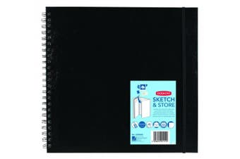 (Square, 12 Inch Square) - Derwent Sketch and Store Sketch Book, 30cm Square Page Size, Wirebound, 40 Pages (2300046)