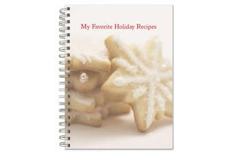 (B: Holiday Recipe Journal) - BookFactory® My Favourite Holiday Recipe Book / Holiday Recipe Journal, Attractive Snowflake Cookie Cover Image, 100 Pages, Laminated Cover, Wire-O Binding, 20cm x 25cm (Recipe-Journal-Holiday-v02)