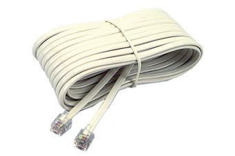 (2.1m, Ivory) - Softalk 48106 Phone Line Cord 2.1m Ivory Landline Telephone Accessory