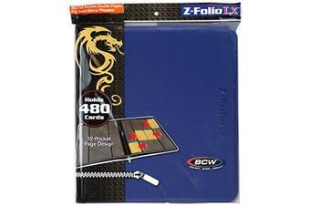12-Pocket Z-Folio LX Trading Card Albums, Blue