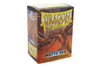 (Red) - Dragon Shield Matte Red 100 Protective Sleeves