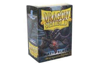(Matte Black) - Dragon Shield Matte Black 100 Protective Sleeves