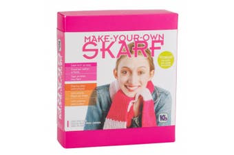 Authentic Knitting Board Skarf Kit/Yarn, Rose Pink