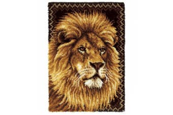 Wonderart Latch Hook Kit 70cm x 40 Inch -Lion