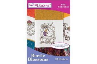 Anita Goodesign Embroidery Designs Beetle Blossoms