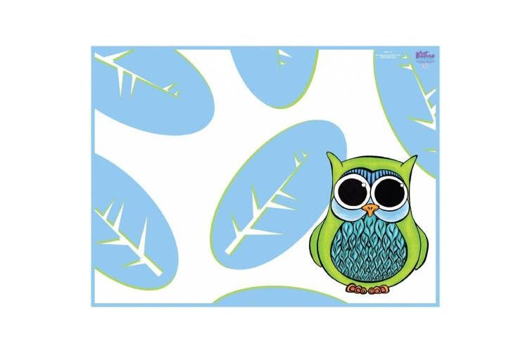 (Owl) - KidKusion High Chair Splat Mat, Owl