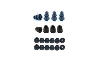 Extra Small - Earphones Plus brand replacement earphone tips custom fit assortment: memory foam earbuds, triple flange ear tips, and standard replacement ear cushions (Please see product details for connector sizes)