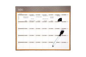 (15 x 12, Purple) - Mead Organizher Write 'N Wipe Monthly Undated Dry-Erase Calendar, 38cm x 30cm , Purple (98119PRPL)