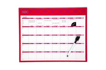 (15 x 12, Coral) - Mead Organizher Write 'n Wipe Monthly Planning Calendar, 38cm x 30cm , Dry Erase, Coral (98113CORL)
