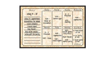 (Wheat) - Dry Erase Magnet Weekly Calendar Wheat