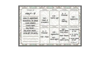 (Tribal) - Dry Erase Magnet Weekly Calendar Tribal