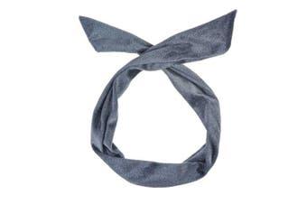(Grey) - Velvet Wire Headband Hair Band Vintage Retro Bendy Wrap