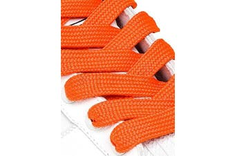 (91cm, Orange) - Big Laces 13mm wide Flat Shoelaces - Variety of Colours