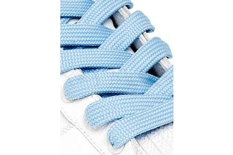 (114cm, Baby Blue) - Big Laces 13mm wide Flat Shoelaces - Variety of Colours