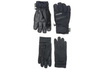 (X-Small, True Black) - BURTON Men's Gore-Tex Under Gloves