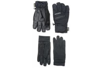 (Small, True Black) - BURTON Men's Gore-Tex Under Gloves