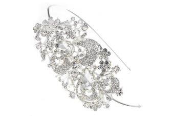 Sweeping Treasure. Crystal Bridal Hair Band Headband Tiara