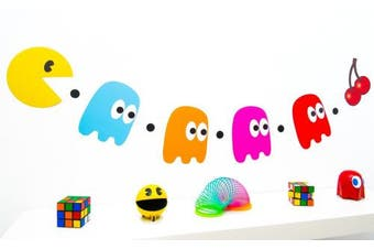 80s Party Decoration - Pacman and Ghosts Bunting
