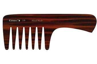 (Giorgio G59) - Giorgio G59 18cm Hand Made Long Tortoise Detangling Comb (Giorgio G59)