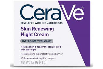 (48 g, Night Cream) - CeraVe Night Cream for Face | 50ml | Skin Renewing Night Cream with Hyaluronic Acid & Niacinamide | Fragrance Free