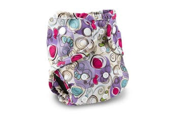(Posy) - Buttons Cloth Nappy Cover - One Size (Posy)