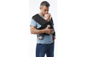 (X-Small, Black) - Baby K'tan Active Baby Wrap Carrier, Infant and Child Sling - Simple Wrap Holder for Babywearing - No Rings or Buckles - Carry Newborn up to 16kg, Black, X-Small (Women 2-4 / Men 36)